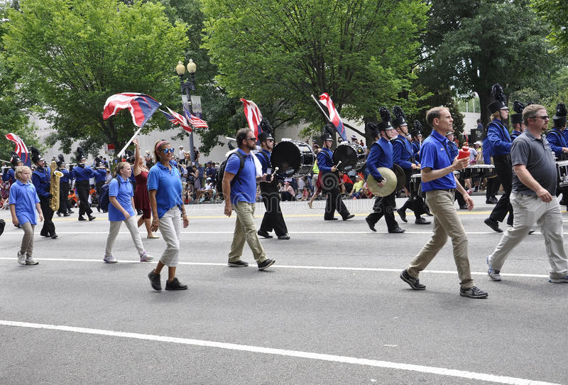 Washington DC, July 4th 2017: The Parade for the 4th July Parade from Washington District of Columbia USA royalty free stock photos