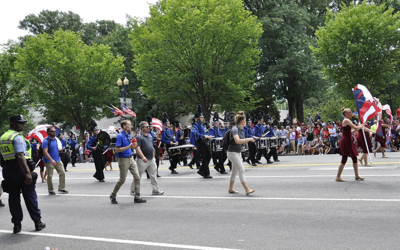 Washington DC, July 4th 2017: The Parade for the 4th July Parade from Washington District of Columbia USA royalty free stock photo