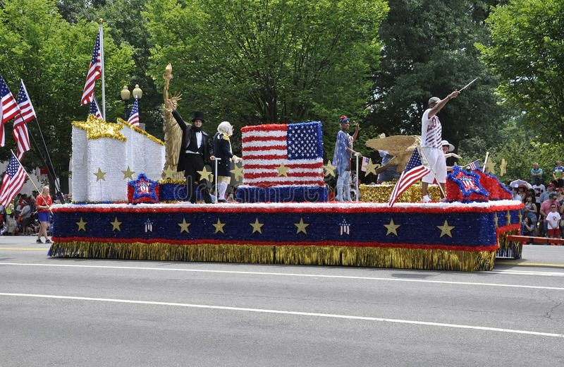 Washington DC, July 4th 2017: The Parade for the 4th July Parade from Washington District of Columbia USA stock photo