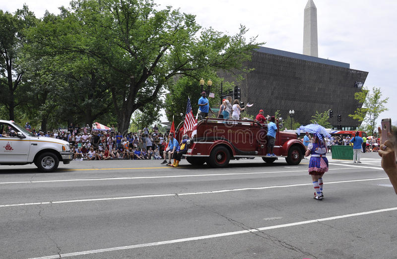 Washington DC, July 4th 2017: The Parade for the 4th July Parade from Washington District of Columbia USA royalty free stock images