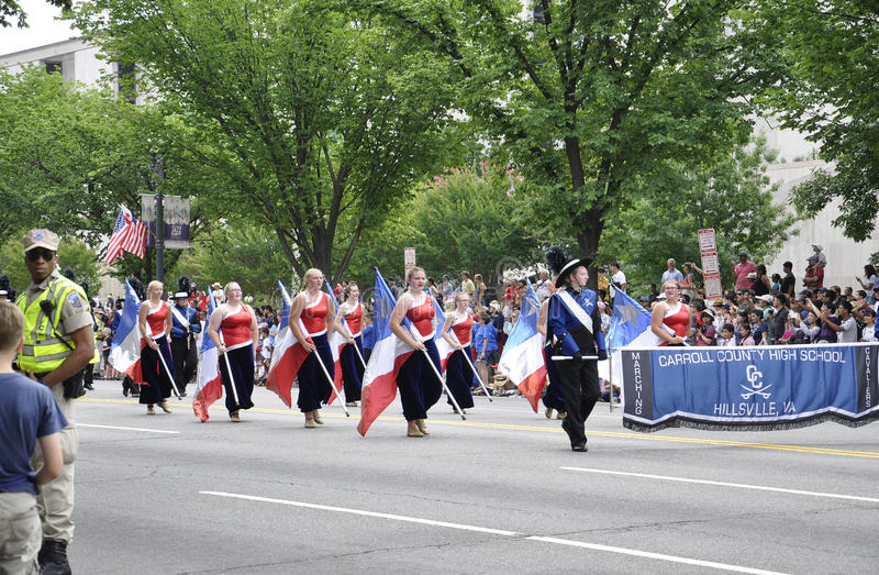 Washington DC, July 4th 2017: The Parade for the 4th July Parade from Washington District of Columbia USA royalty free stock image