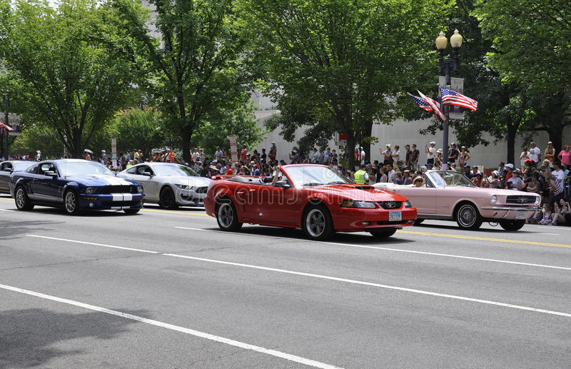 Washington DC, July 4th 2017: The Parade for the 4th July Parade from Washington District of Columbia USA stock photos