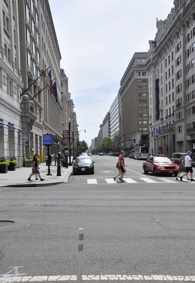 Washington DC, July 4th 2017: Street View downtown Washington District of Columbia USA royalty free stock photo