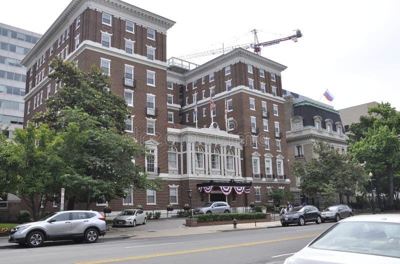 Washington DC, July 4th 2017: University Club Building from Washington District of Columbia USA stock photo