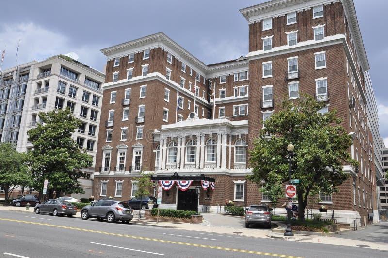 Washington DC, july 5th 2017: University Club Building from Washington Columbia District USA royalty free stock image