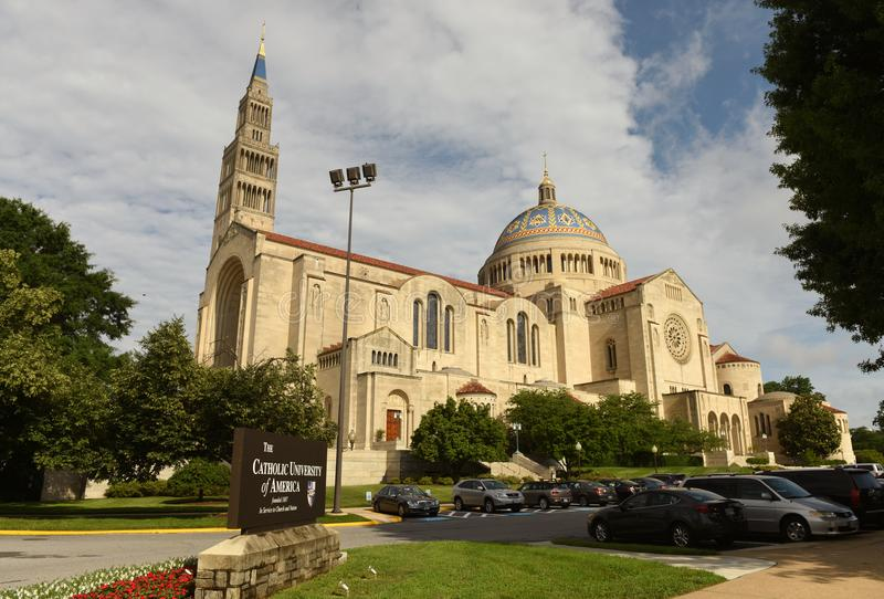 Washington, DC - June 01, 2018: Basilica of the National Shrine. Of the Immaculate Conception in Catholic University of America stock photos