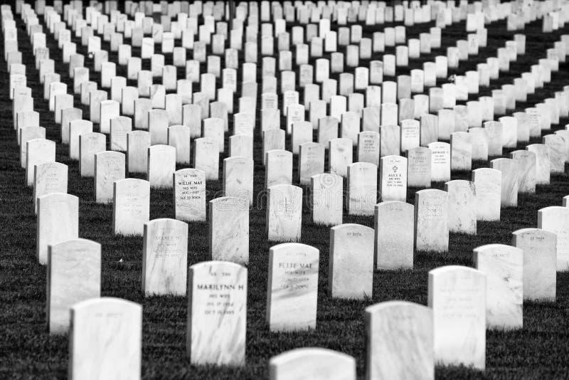 Washington DC - Juni 01, 2018: Arlington nationell kyrkogård arkivbilder