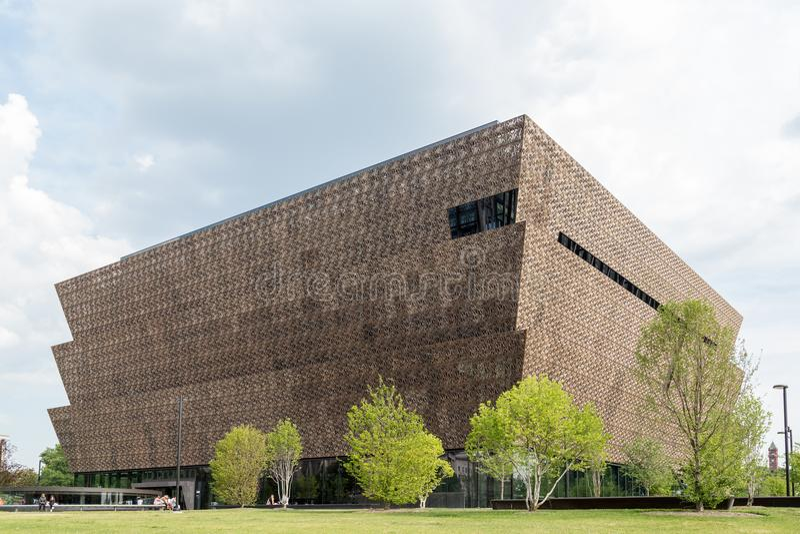 Washington DC - Juni 12, 2017 Nationellt museum av afrikansk amerikanhistoria och kultur royaltyfri foto