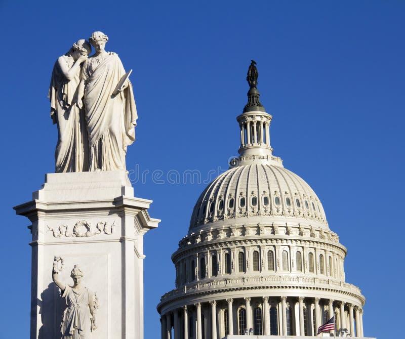 Washington DC Kapitoliumbyggnad royaltyfria bilder