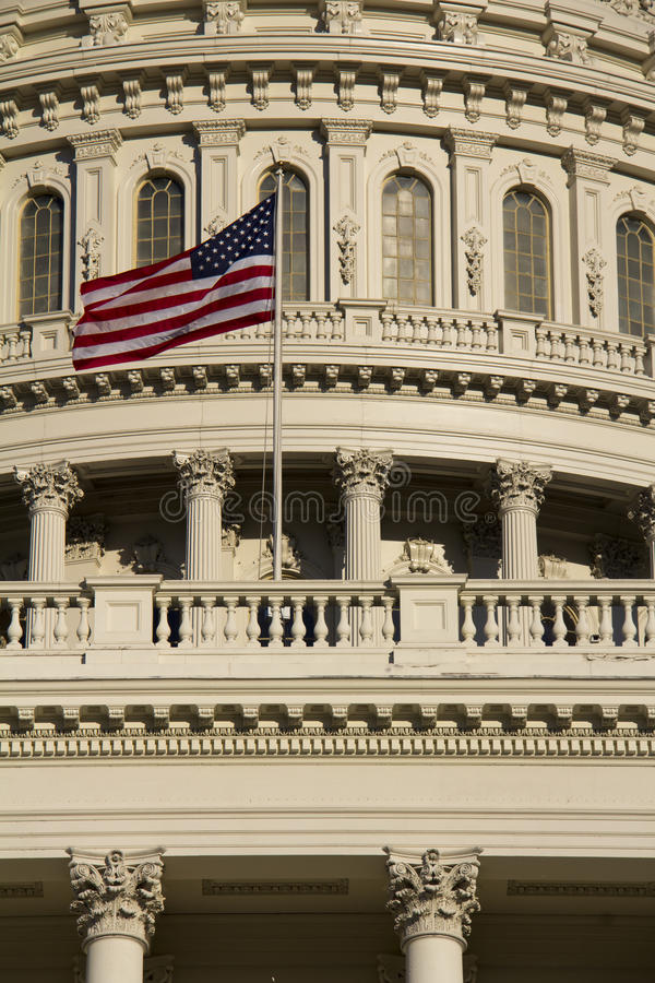 Washington DC Kapitoliumbyggnad fotografering för bildbyråer