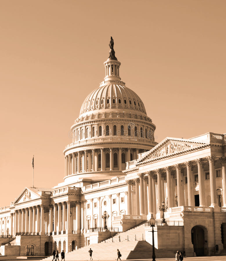 Washington DC Kapitoliumbyggnad arkivfoton