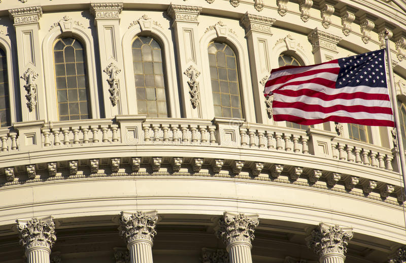 Washington DC Kapitoliumbyggnad royaltyfri fotografi