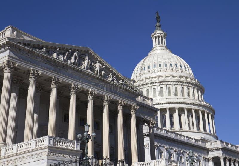 Washington DC Kapitoliumbyggnad arkivbild