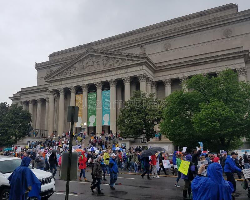 WASHINGTON DC - KWIECIEŃ 22, 2017 Marzec dla nauki zdjęcie stock