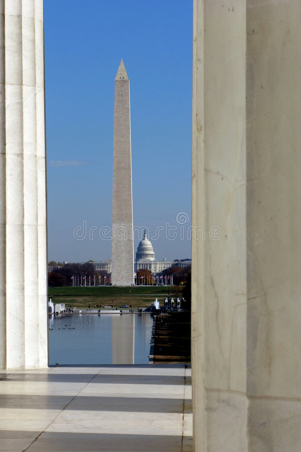 Washington DC Landmarks With Capitol And Monument Stock Images