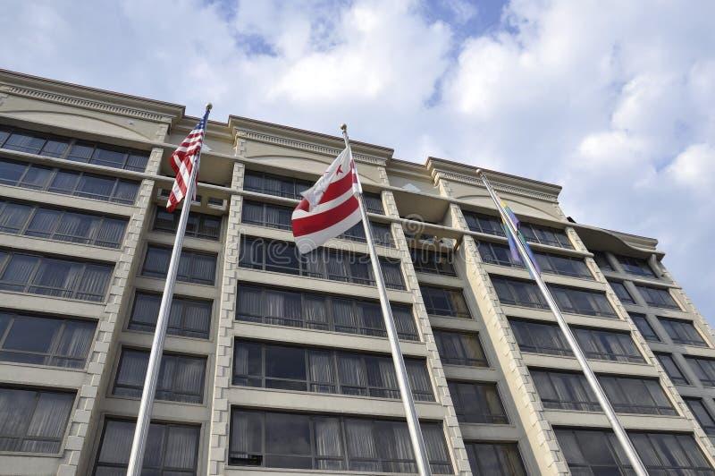 Washington DC, le 5 juillet 2017 : Hôtel de rangée d'ambassade de Washington Columbia District aux Etats-Unis photographie stock