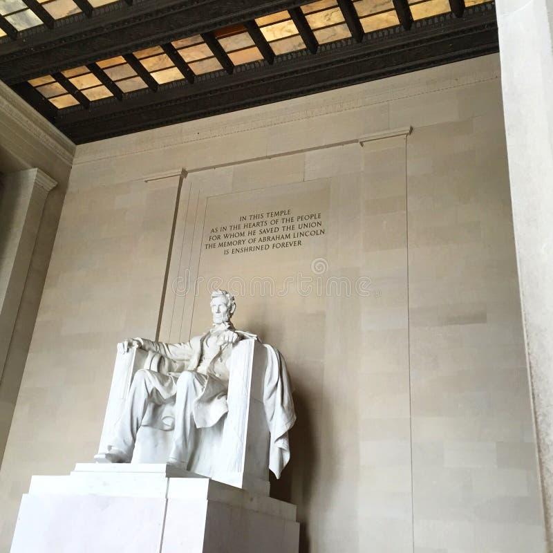 Washington DC Lincoln Memorial foto de archivo
