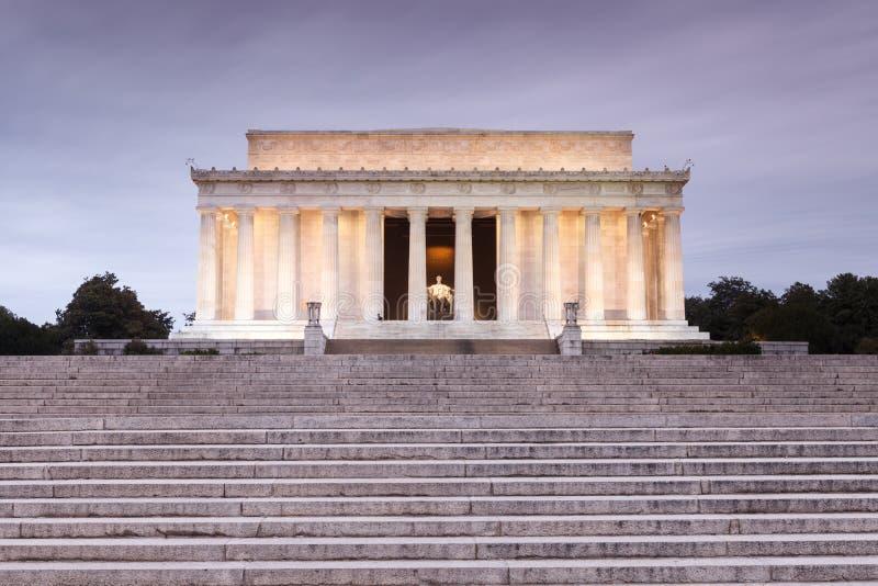 Washington DC Lincoln Memorial stock image
