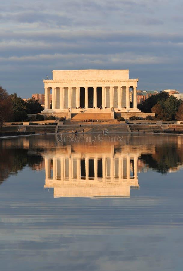 Washington DC Lincoln Memorial Reflection stock photography