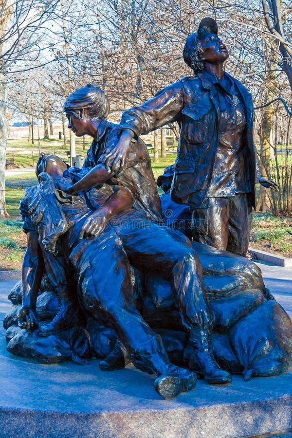 WASHINGTON DC, LOS E.E.U.U. - 27 DE ENERO DE 2006: El Memor de las mujeres de Vietnam fotografía de archivo libre de regalías