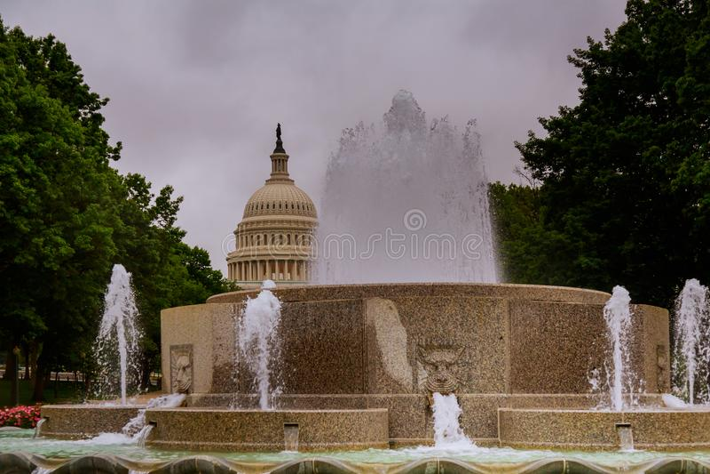 Washington DC los E.E.U.U. del edificio del capitolio de los E.E.U.U. imágenes de archivo libres de regalías