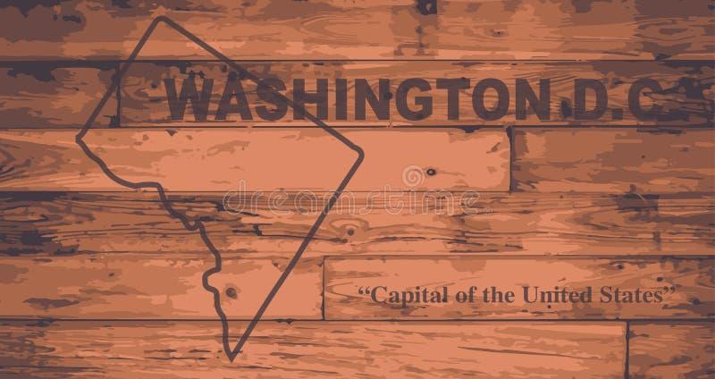 Washington DC mapy gatunek ilustracji