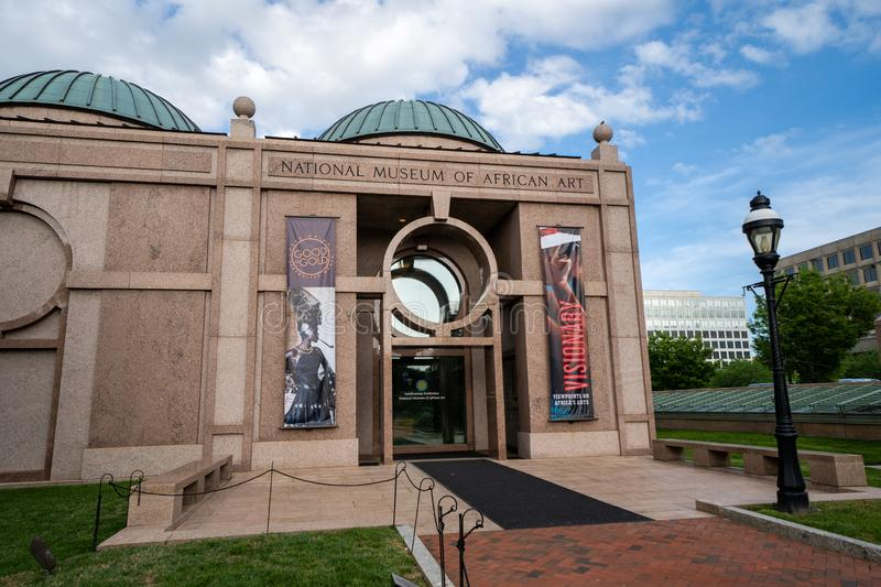 Washington, DC - May 9, 2019: Exterior of the National Museum of African Art, part of the Smithsonian Insititution along the stock image