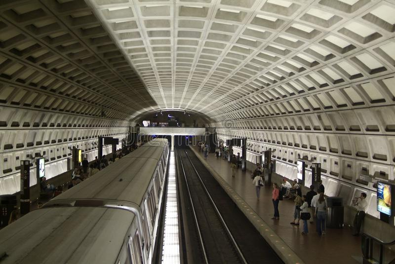 Washington DC Metro. Inside Washington DC Metro Station stock images