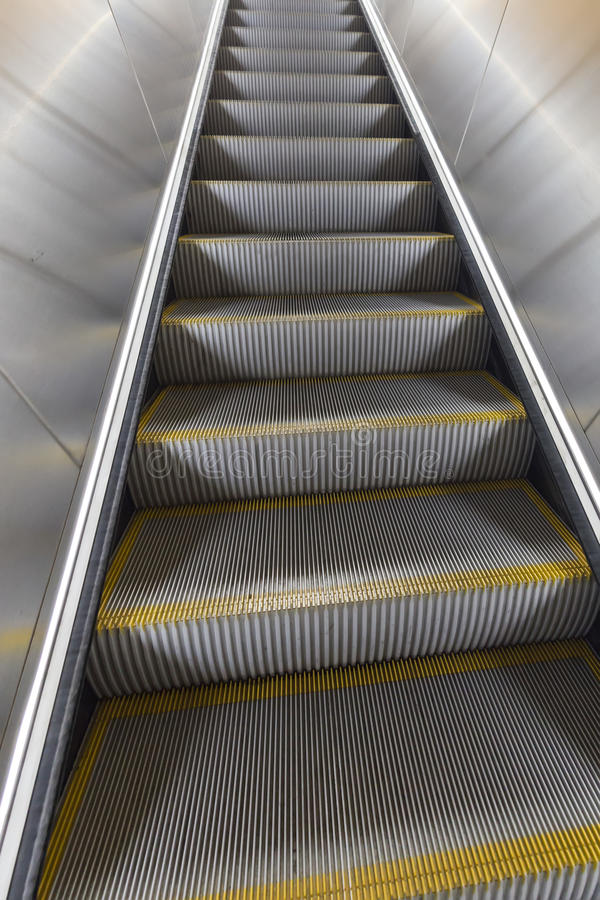 Washington DC Metro escalator. With no people royalty free stock images