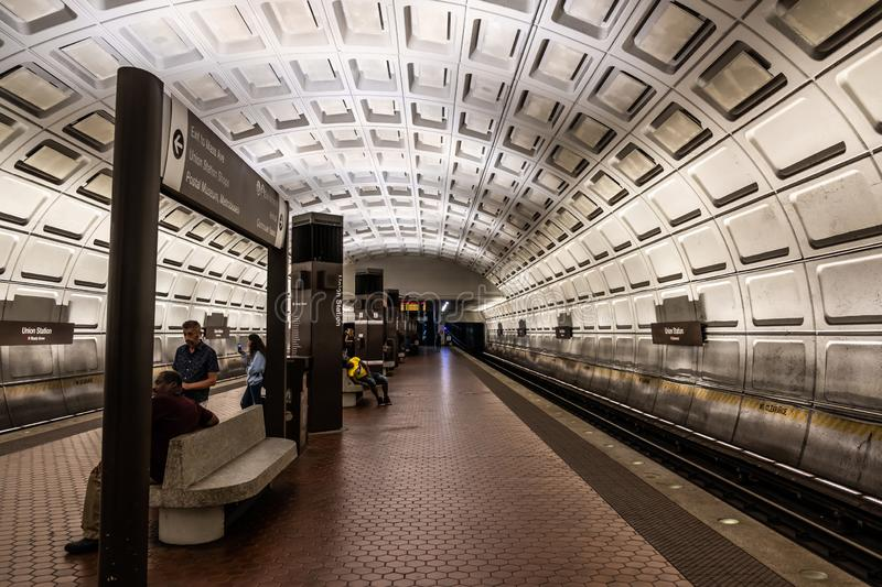 Washington DC Metro Service. Washington DC Metro Subway Tunnel and station royalty free stock photos