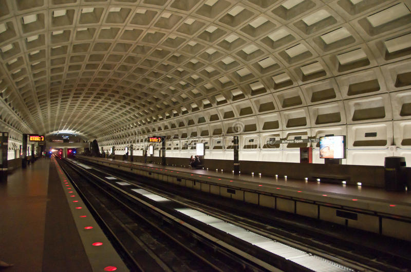 Washington DC Metro station. Metro station in Washington DC royalty free stock images