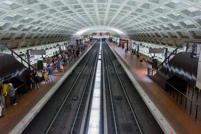 Washington DC Metro Station. Inside look of a typical Metro station in Washington DC royalty free stock images