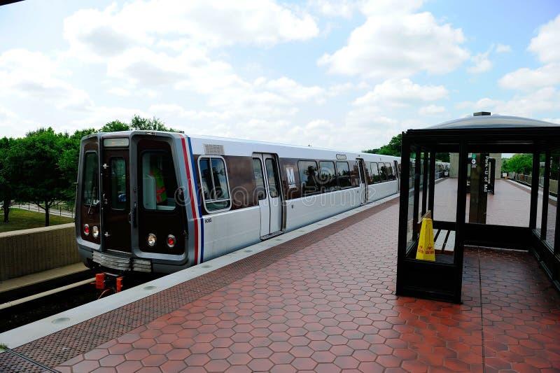 Washington DC Metro Train stock images
