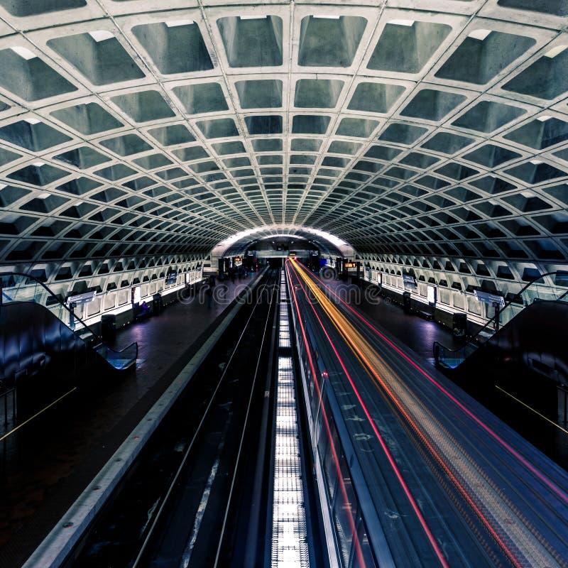 Washington DC-Metrostation stockfoto