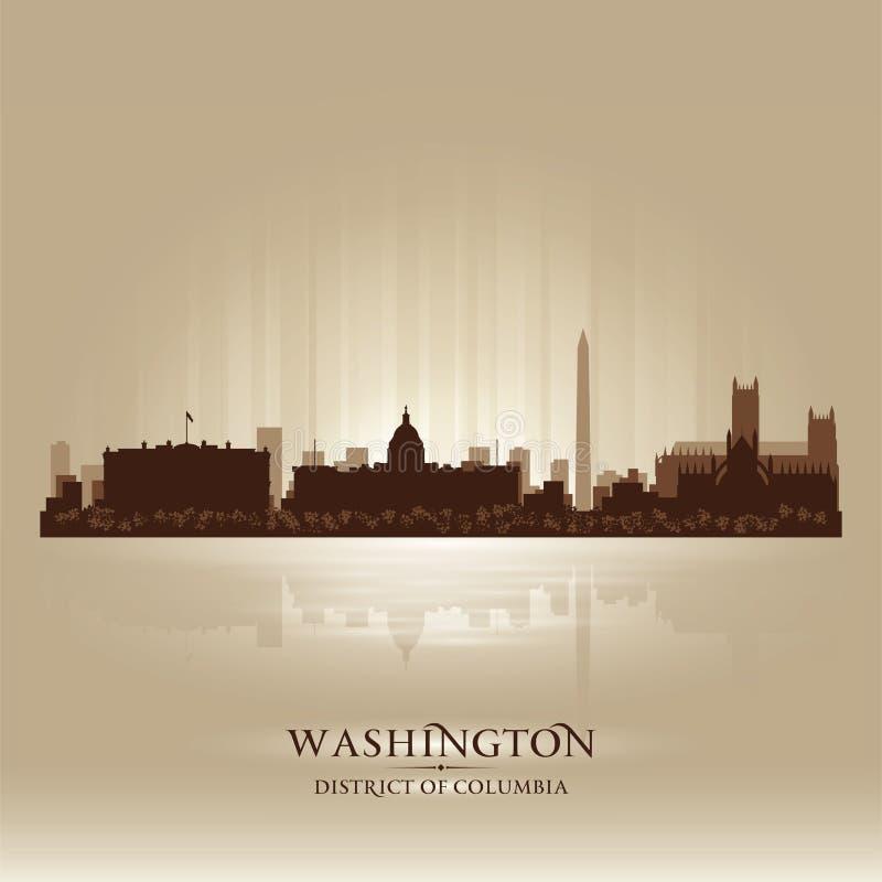 Washington DC miasta linii horyzontu sylwetka ilustracja wektor
