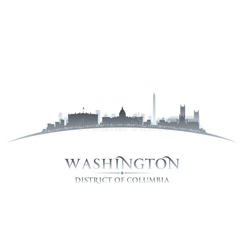 Washington DC miasta linii horyzontu sylwetki bielu tło royalty ilustracja