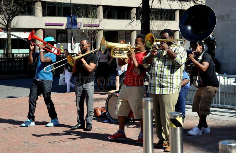 Washington, DC: Musicians at Dupont Circlre stock images