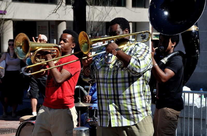 Washington, DC: Musicians at Dupont Circlre stock photography
