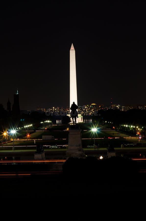 Washington DC na noite fotos de stock