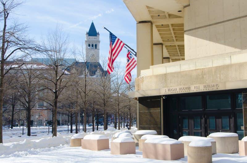 Washington DC nach Schneesturm, im Januar 2016 lizenzfreie stockfotografie