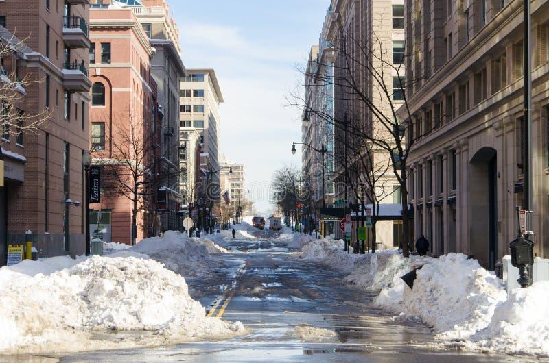 Washington DC nach Schneesturm, im Januar 2016 lizenzfreie stockfotos