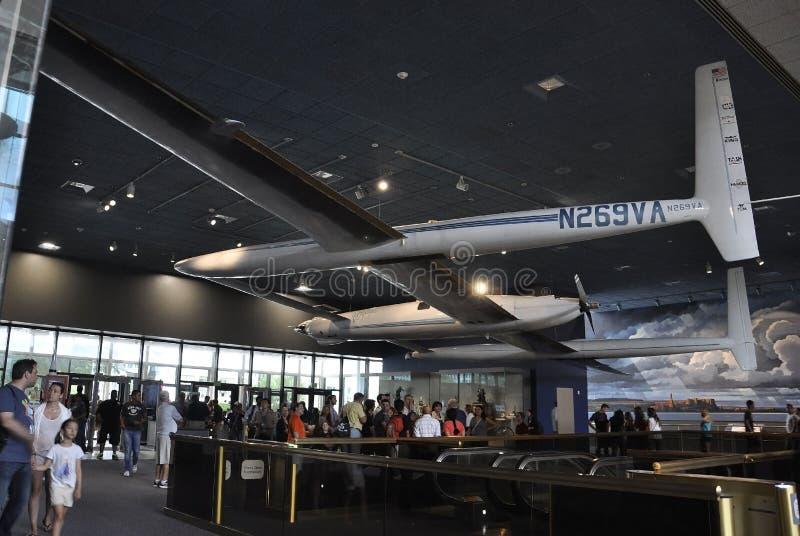 Washington DC, o 5 de agosto: Avião no ar nacional de Smithonian e museu de espaço do Washington DC nos EUA fotografia de stock royalty free