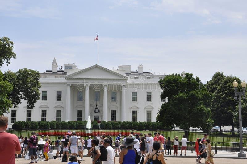 Washington DC, o 4 de julho de 2017: Construção de casa branca de Washington Columbia District nos EUA fotos de stock royalty free