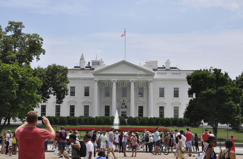 Washington DC, o 4 de julho de 2017: Construção de casa branca de Washington Columbia District nos EUA foto de stock