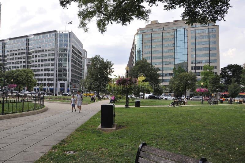 Washington DC, o 5 de julho: Paisagem do parque do Washington DC nos EUA imagens de stock royalty free