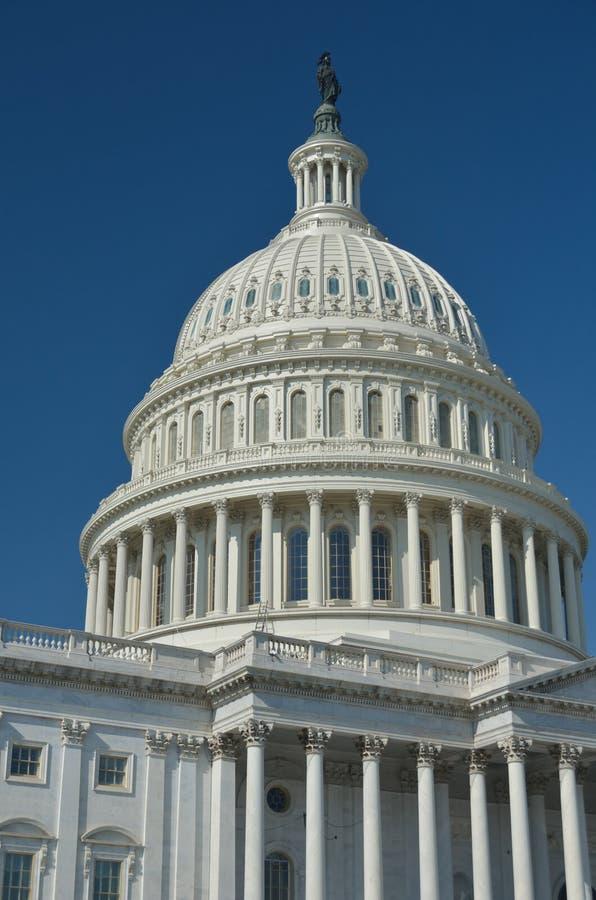 Washington DC, particolare della cupola degli Stati Uniti Campidoglio immagine stock