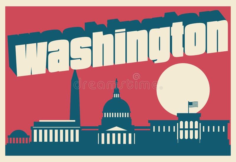 Washington DC pocztówka ilustracja wektor