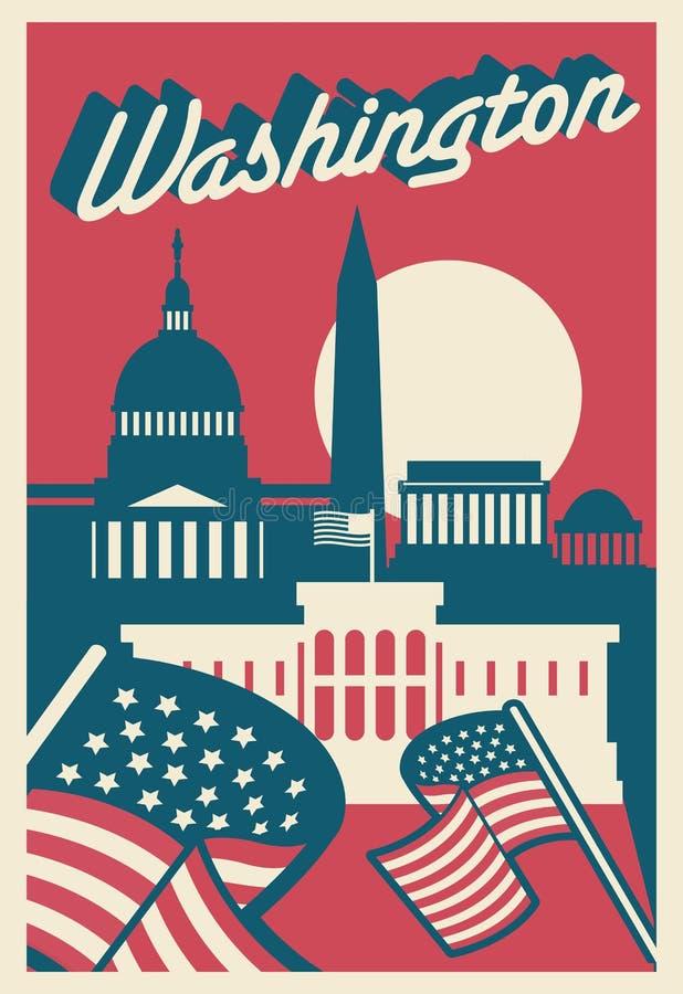 Washington DC poczt?wka ilustracja wektor