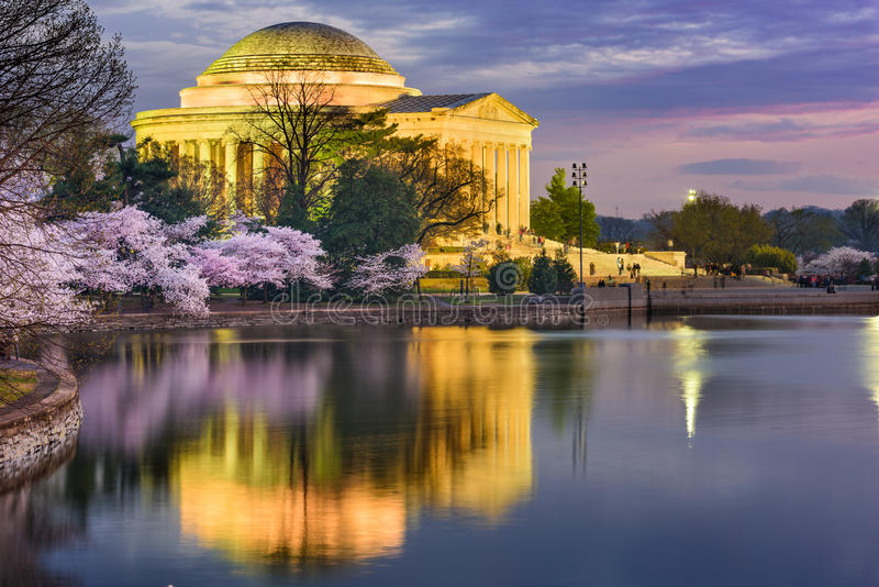 Washington DC in primavera immagini stock libere da diritti