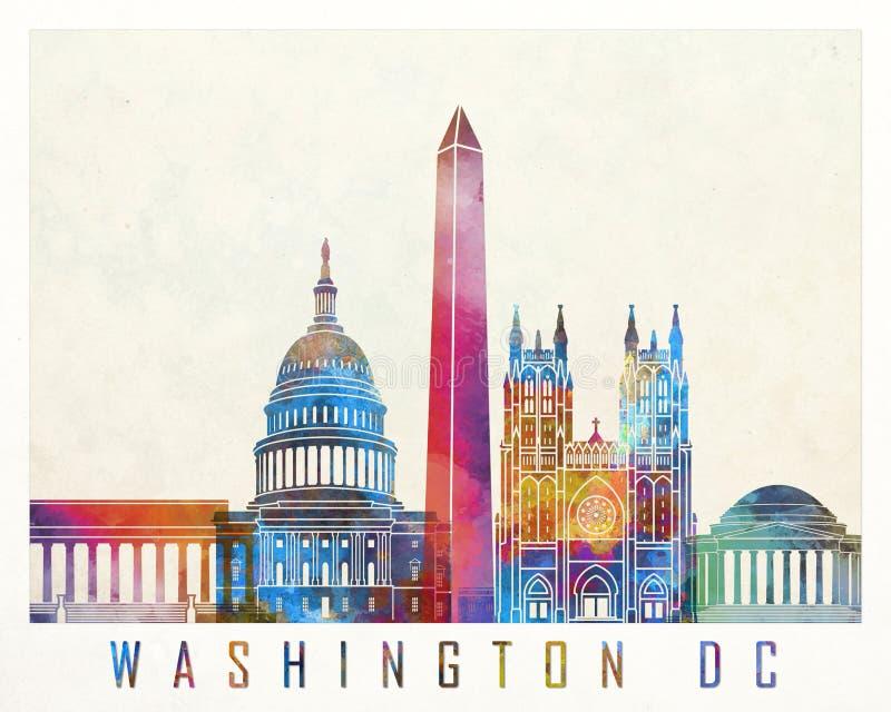 Washington DC punkt zwrotny ilustracji